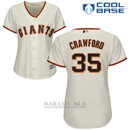 Maillot Baseball Femme San Francisco Giants San Francisco Brandon Crawford Cool Base Creme