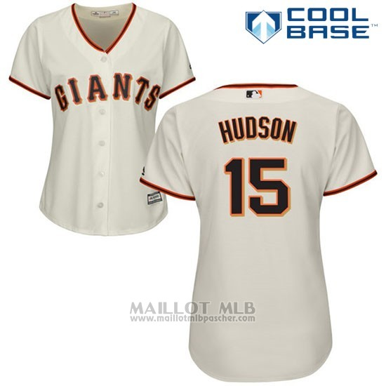 Maillot Baseball Femme San Francisco Giants San Francisco Tim Hudson Cool Base Creme