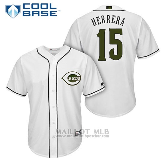 Maillot Baseball Homme Cincinnati Reds 15 Dilson Herrera Blanc2018 Alterner Cool Base