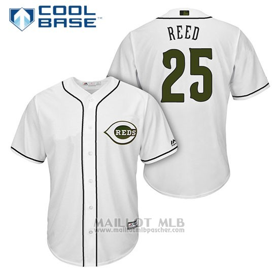 Maillot Baseball Homme Cincinnati Reds 25 Cody Reed Blanc2018 Alterner Cool Base