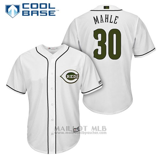 Maillot Baseball Homme Cincinnati Reds 30 Tyler Mahle Blanc2018 Alterner Cool Base