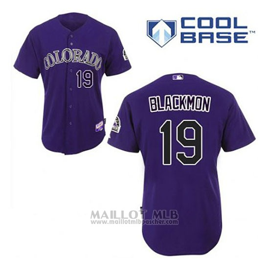 Maillot Baseball Homme Colorado Rockies Charlie Noirmon 19 Volet Alterner Cool Base