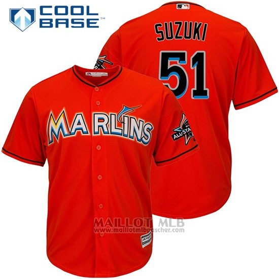 Maillot Baseball Homme Miami Marlins 11 J.t. Realmuto Orange2017 Cool Base