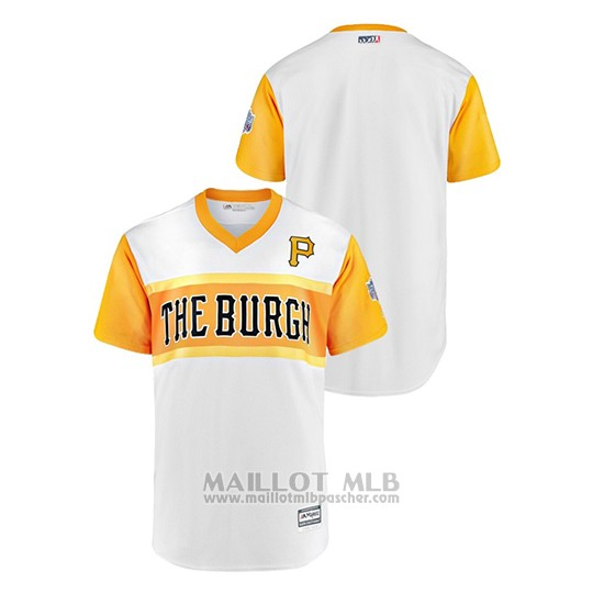 Maillot Baseball Homme Pittsburgh Pirates 2019 Little League Classic Replica Blanc