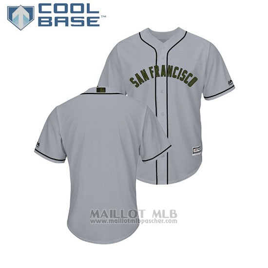 Maillot Baseball Homme San Francisco Giants 2018 Dia de los Caidos Cool Base Gris