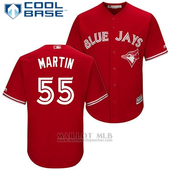 Maillot Baseball Homme Toronto Blue Jays 55 Russell Martin Rouge2017 Cool Base