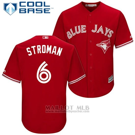 Maillot Baseball Homme Toronto Blue Jays 6 Marcus Stroman Rouge2017 Cool Base