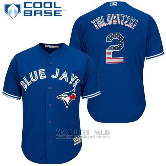Maillot Baseball Homme Toronto Blue Jays Aaron Hill Cool Base