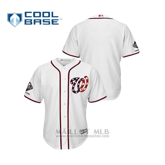 Maillot Baseball Homme Washington Nationals 2019 World Series Champions Cool Base Alterno Blanc