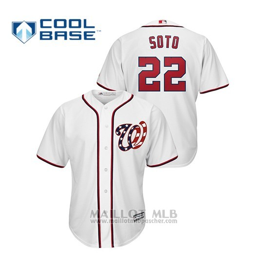 Maillot Baseball Homme Washington Nationals Juan Soto Cool Base Alterno Blanc