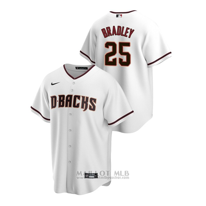 Maillot Baseball Homme Arizona Diamondbacks Archie Bradley Replique Primera Blanc
