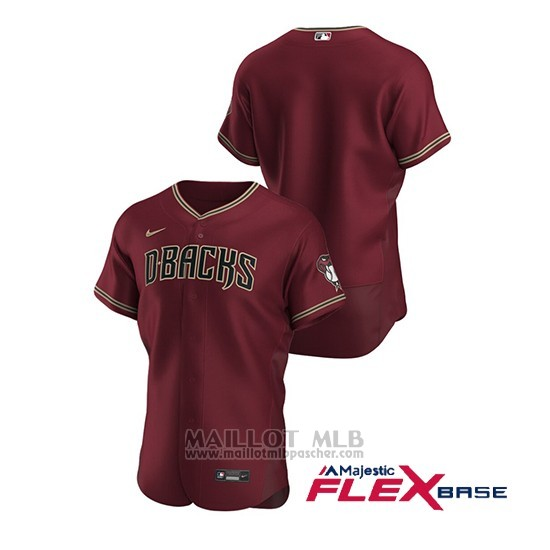 Maillot Baseball Homme Arizona Diamondbacks Authentique Alterno Rouge