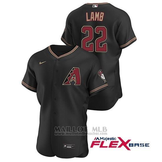 Maillot Baseball Homme Arizona Diamondbacks Jake Lamb Authentique 2020 Alterno Noir