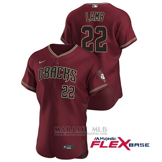 Maillot Baseball Homme Arizona Diamondbacks Jake Lamb Authentique 2020 Alterno Rouge