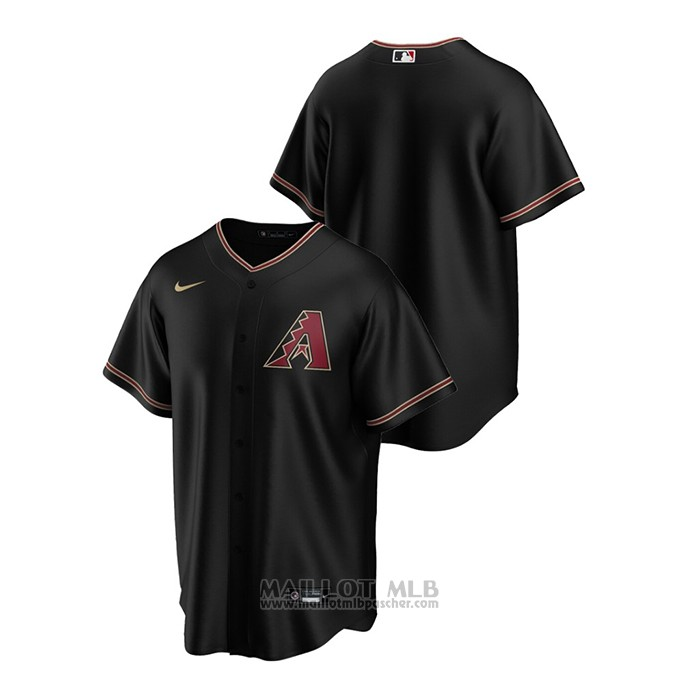 Maillot Baseball Homme Arizona Diamondbacks Replique Alterner Noir