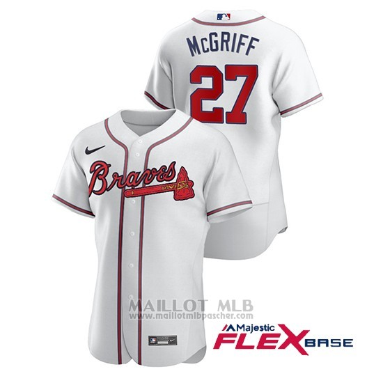Maillot Baseball Homme Atlanta Braves Fred Mcgriff Authentique Nike Blanc