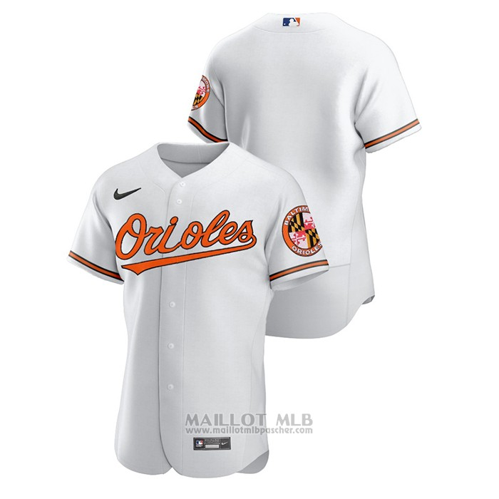 Maillot Baseball Homme Baltimore Orioles Authentique Blanc