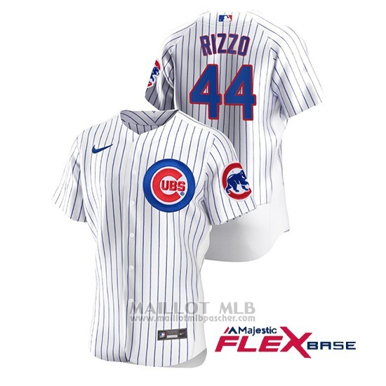 Maillot Baseball Homme Chicago Cubs Anthony Rizzo Authentique Nike Blanc