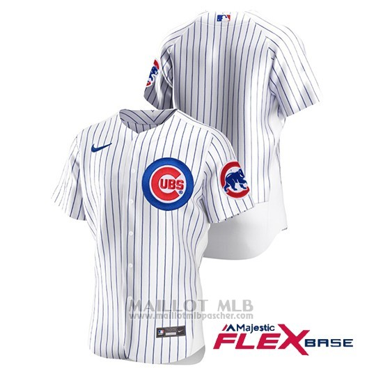 Maillot Baseball Homme Chicago Cubs Authentique Nike Blanc