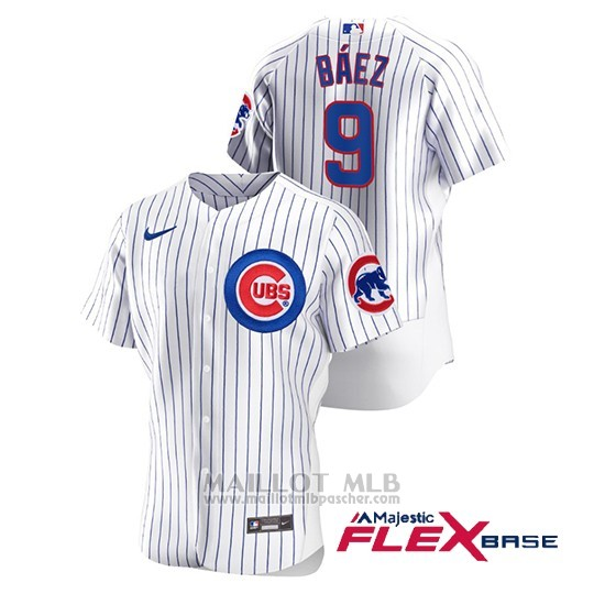 Maillot Baseball Homme Chicago Cubs Javier Baez Authentique Nike Blanc