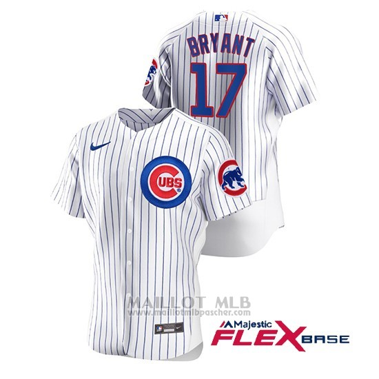 Maillot Baseball Homme Chicago Cubs Kris Bryant Authentique Nike Blanc