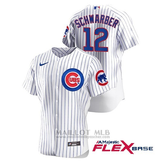 Maillot Baseball Homme Chicago Cubs Kyle Schwarber Authentique Nike Blanc