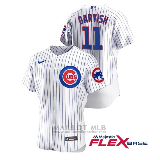 Maillot Baseball Homme Chicago Cubs Yu Darvish Authentique Nike Blanc