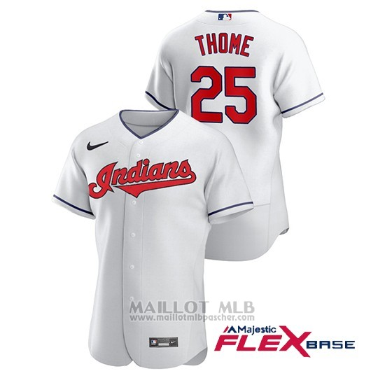 Maillot Baseball Homme Cleveland Indians Jim Thome Authentique Nike Blanc