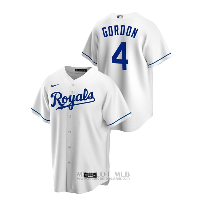 Maillot Baseball Homme Kansas City Royals Alex Gordon Replique Primera Blanc