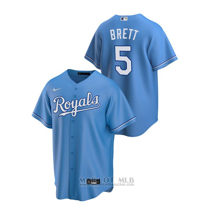 Maillot Baseball Homme Kansas City Royals George Brett Replique Alterner Bleu
