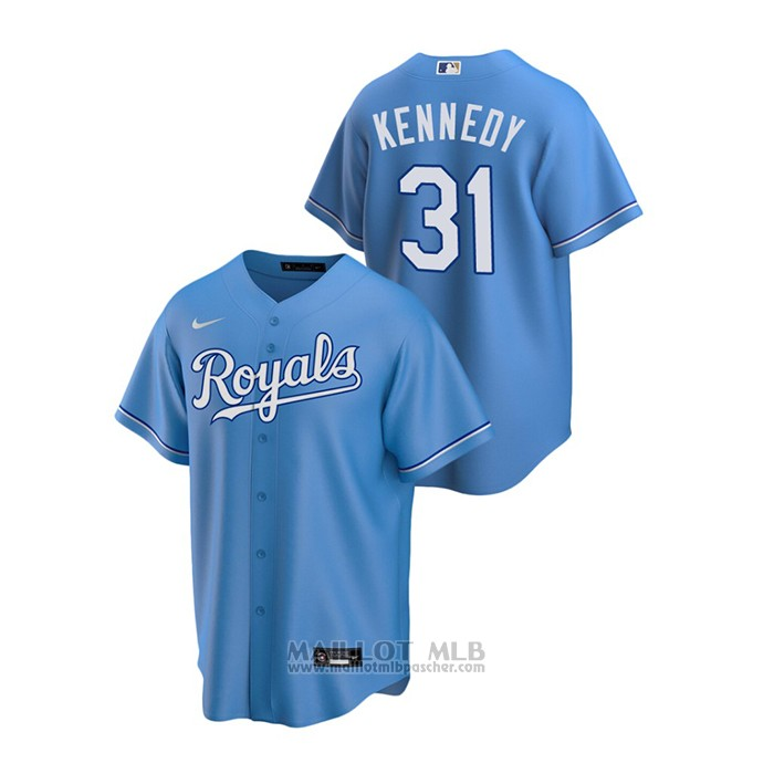 Maillot Baseball Homme Kansas City Royals Ian Kennedy Replique Alterner Bleu
