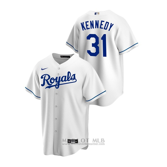 Maillot Baseball Homme Kansas City Royals Ian Kennedy Replique Primera Blanc