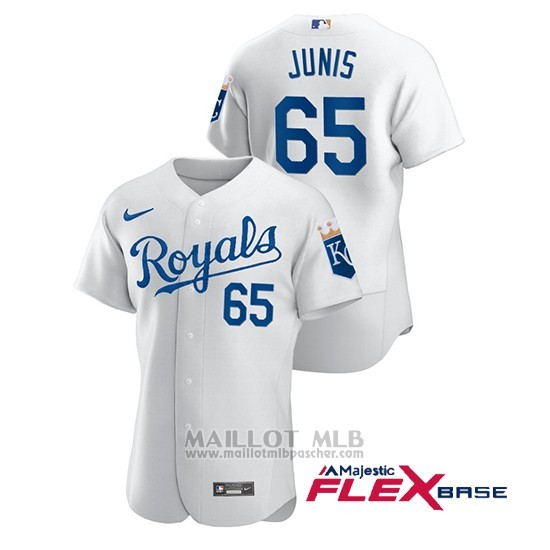 Maillot Baseball Homme Kansas City Royals Jakob Junis Authentique Nike Blanc