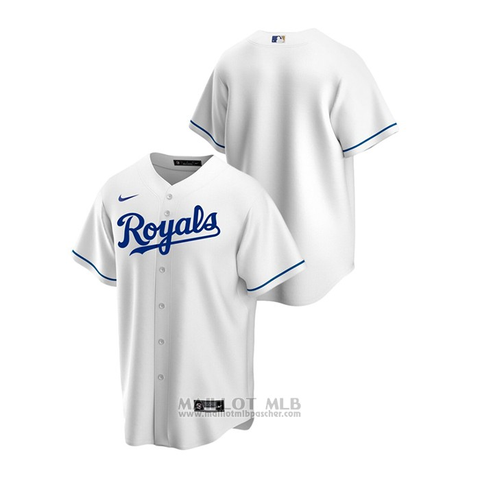 Maillot Baseball Homme Kansas City Royals Replique Primera Blanc