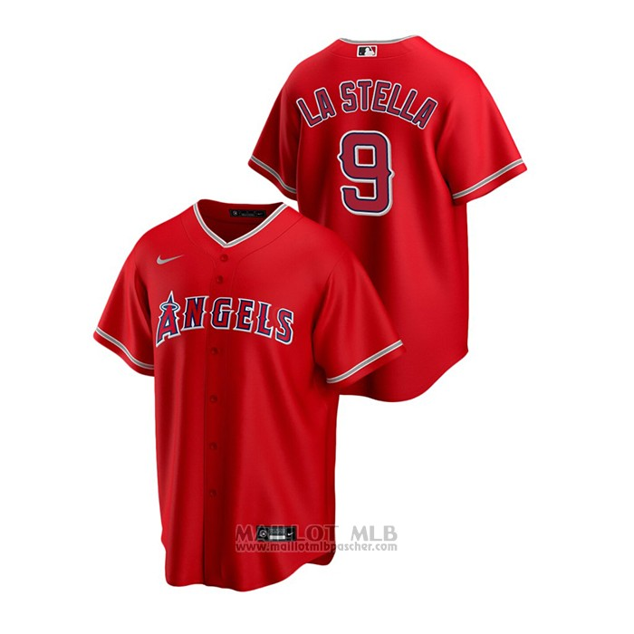 Maillot Baseball Homme Los Angeles Angels Tommy La Stella Replique Alterner Rouge