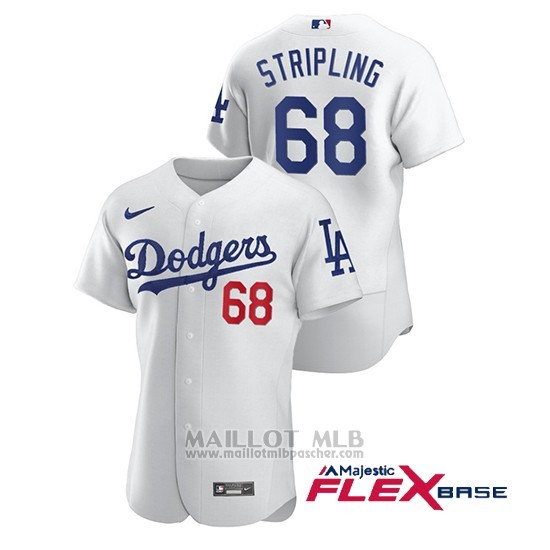 Maillot Baseball Homme Los Angeles Dodgers Ross Stripling Authentique Nike Blanc