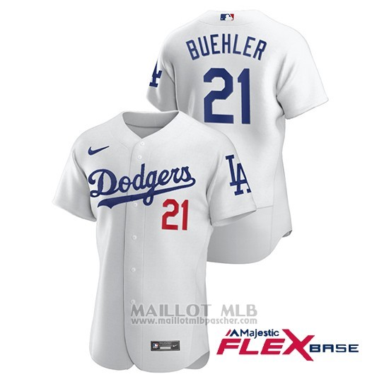 Maillot Baseball Homme Los Angeles Dodgers Walker Buehler Authentique Nike Blanc