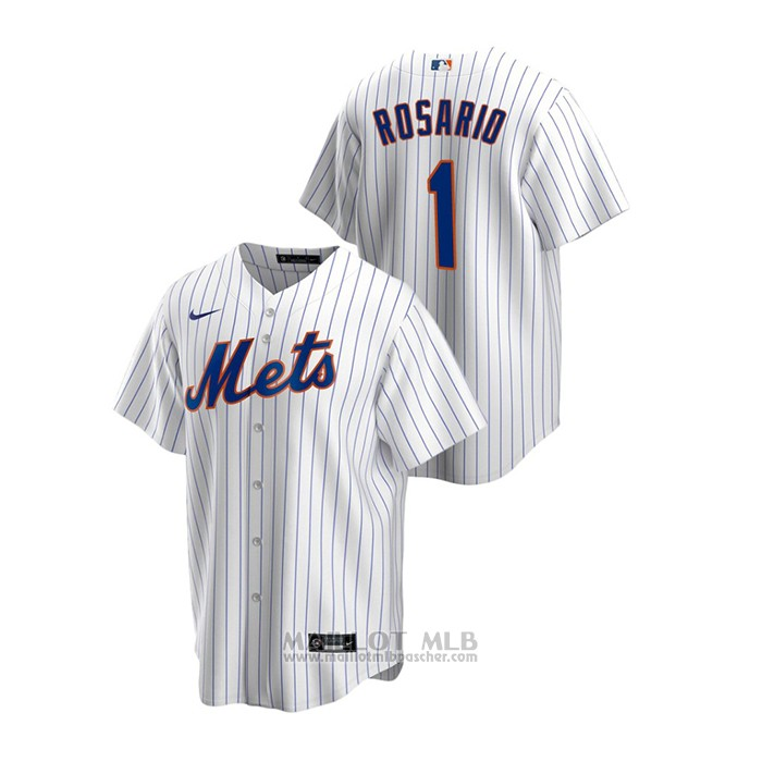 Maillot Baseball Homme New York Mets Amed Rosario Replique Primera Blanc