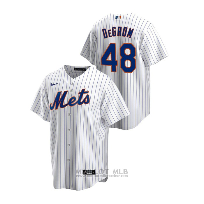 Maillot Baseball Homme New York Mets Jacob Degrom Replique Primera Blanc
