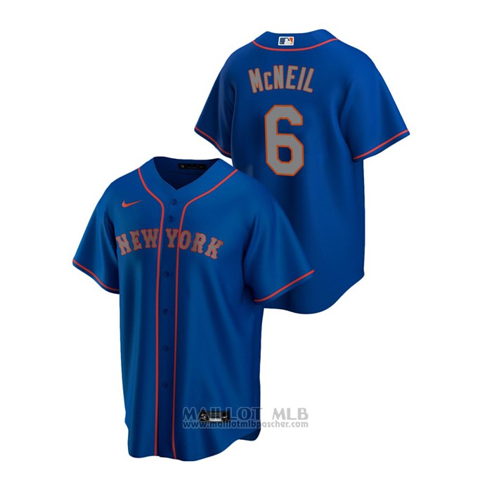 Maillot Baseball Homme New York Mets Jeff Mcneil Replique Alterner Road Bleu