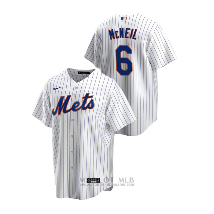 Maillot Baseball Homme New York Mets Jeff Mcneil Replique Primera Blanc