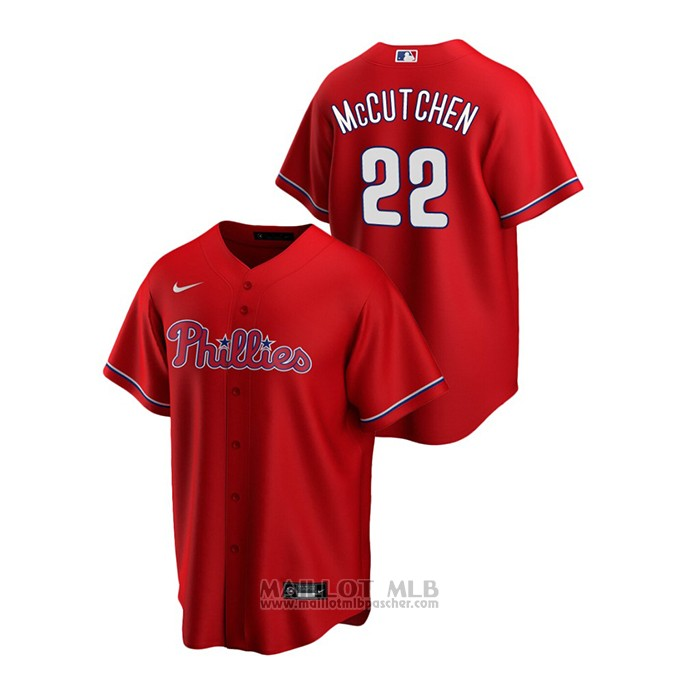 Maillot Baseball Homme Philadelphia Phillies Andrew Mccutchen Replique Alterner Rouge