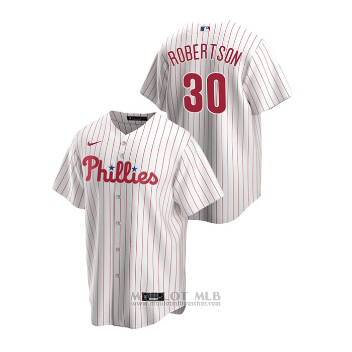 Maillot Baseball Homme Philadelphia Phillies David Robertson Replique Primera Blanc
