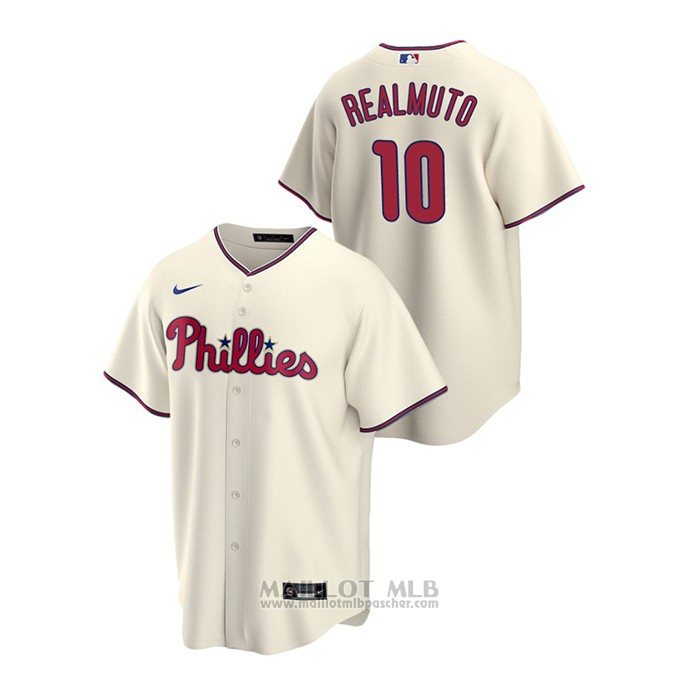 Maillot Baseball Homme Philadelphia Phillies J.t. Realmuto Replique Alterner Creme