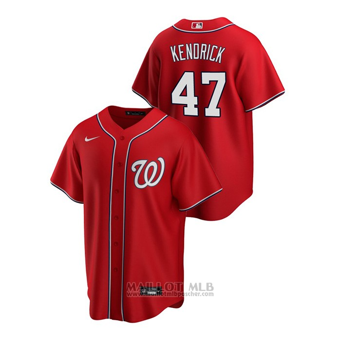 Maillot Baseball Homme Washington Nationals Howie Kendrick Replique Alterner Rouge
