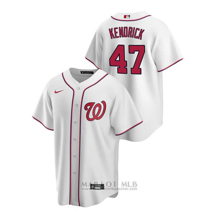 Maillot Baseball Homme Washington Nationals Howie Kendrick Replique Primera Blanc