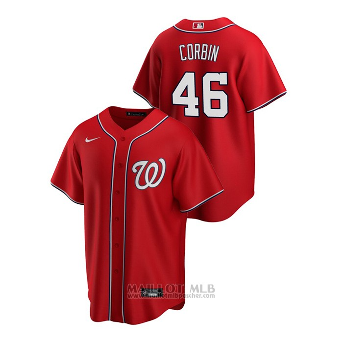 Maillot Baseball Homme Washington Nationals Patrick Corbin Replique Alterner Rouge