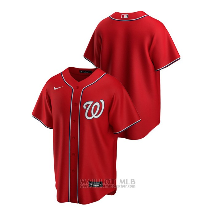 Maillot Baseball Homme Washington Nationals Replique Alterner Rouge