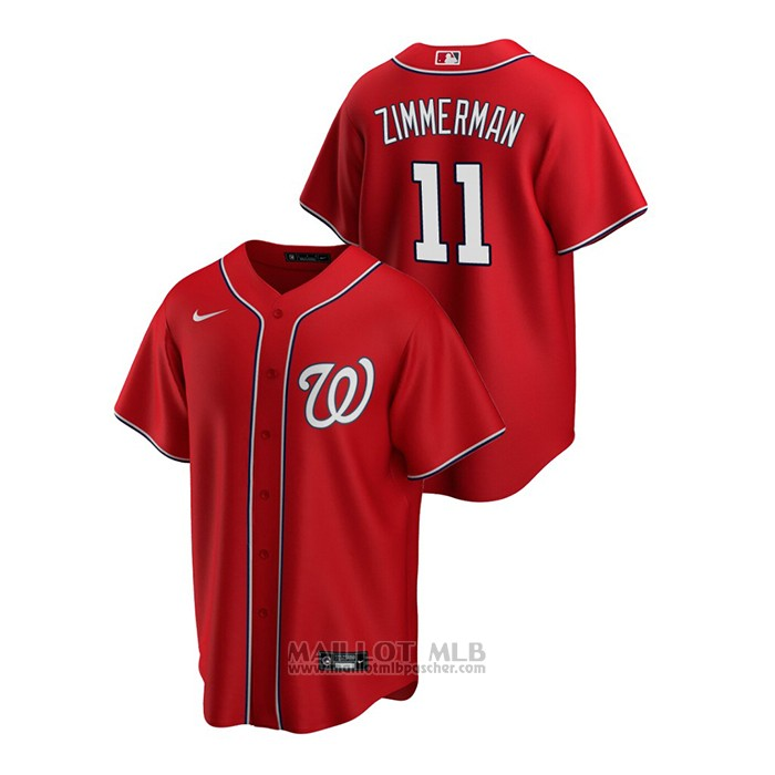 Maillot Baseball Homme Washington Nationals Ryan Zimmerman Replique Alterner Rouge