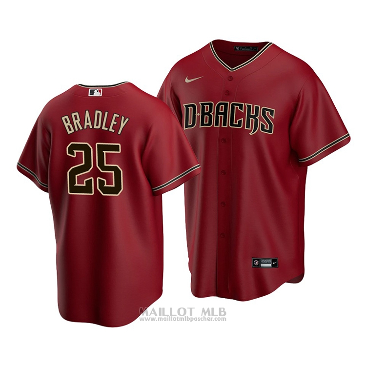 Maillot Baseball Homme Arizona Diamondbacks Archie Bradley Replique Alterner 2020 Rouge